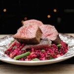 Smoked Venison Haunch With Warm Pearl Barley Salad