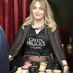 Sarah Young serving Green & Black's