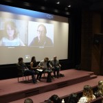 Vanity Fair contributing editor Judy Bachrach and director Andrew Douglas live via Skype, along with screenwriter Mike Walden, Bridget Arsenault, lead actor Toby Regbo and producer Simon Crocker