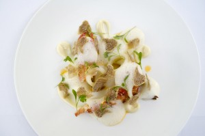 3 Lobster with white Alba Truffle and cauliflower
